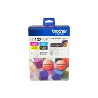Brother LC133PVP 4 Ink Cartridge Photo Value Pack (Black/Cyan/Magenta/Yellow + Photo Paper)