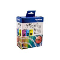 Brother LC135XLCL3PK 3 High Yield Ink Cartridge Value Pack (Cyan/Magenta/Yellow)