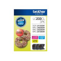 Brother LC233CL3PK 3 Ink Cartridge Value Pack (Cyan/Magenta/Yellow)