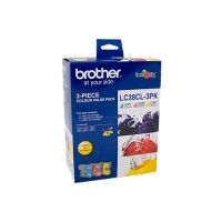Brother LC38CL3PK 3 Ink Cartridge Value Pack (Cyan/Magenta/Yellow)