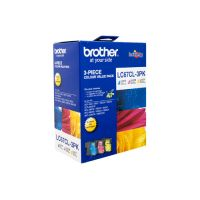 Brother LC67CL3PK 3 Ink Cartridge Value Pack (Cyan/Magenta/Yellow)