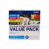 Brother TN240CL4PK / TN240 4 Toner Cartridge Value Pack (Black/Cyan/Magenta/Yellow)