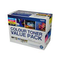Brother BN25X4PK / TN25x 4 Toner Cartridge Value Pack (Black/Cyan/Magenta/Yellow)