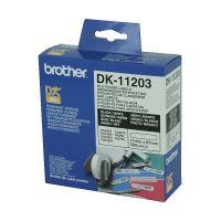 Brother DK11203 White File Folder Label Roll (17mm x 87mm), 300 Labels