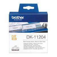 Brother DK11204 White Return Address/Multi-purpose Label Roll (17mm x 54mm), 400 Labels