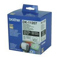 Brother DK11207 White CD/DVD Film Label Roll (58mm diameter), 100 Labels