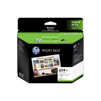 HP 3JR59A #63 Black & Tri-Colour Ink Cartridge Photo Value Pack