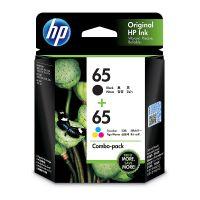 HP 3JB07AA #65 Black & Tri-Colour Ink Cartridge Combo Pack